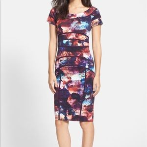 Nicole Miller Rose Print Sheath